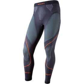 UYN Evolutyon UW Pantaloni lunghi Uomo, charcoal/green/orange shiny